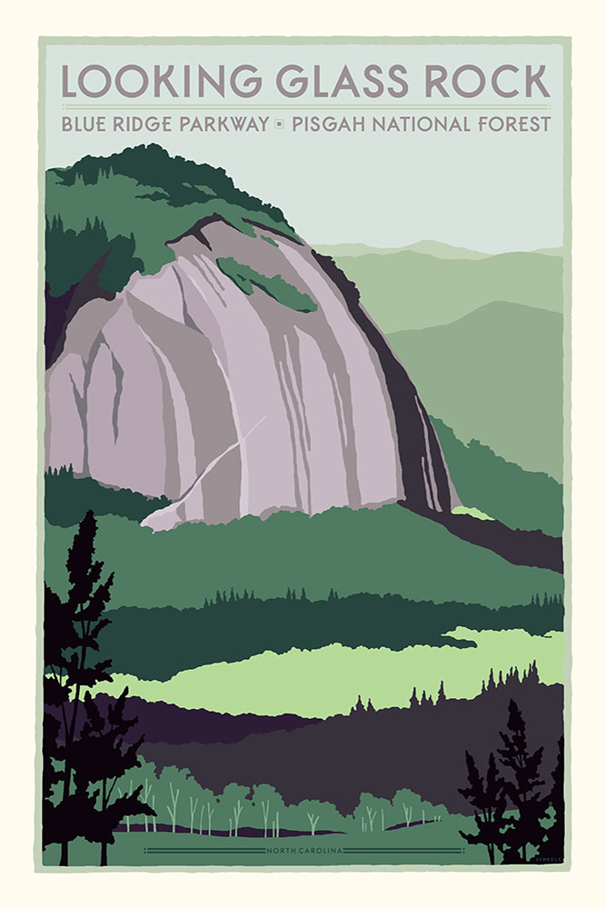 Asheville-Looking-Glass-Rock-Poster-Scheele