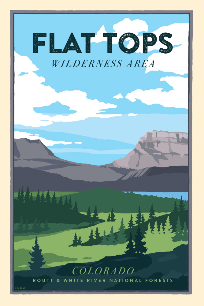 Flat-Tops-Wilderness-Area-Poster-Scheele