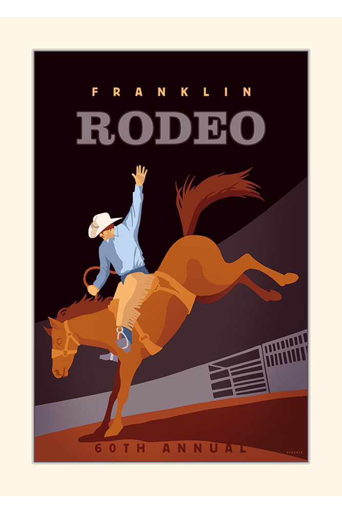 Franklin-Rodeo-Poster-Scheele
