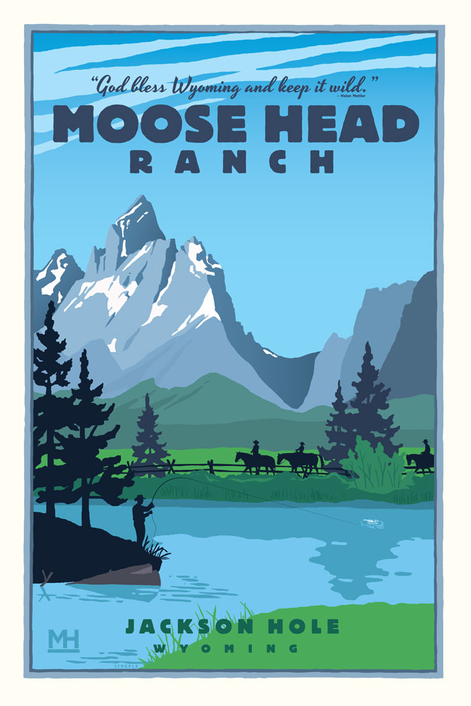 Moose-Head-Ranch-Poster-Scheele