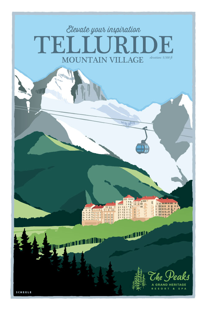 Telluride-The-Peaks-Resort-Poster-Scheele