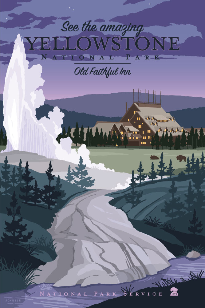 Yellowstone-Old-Faithful-Poster-Scheele