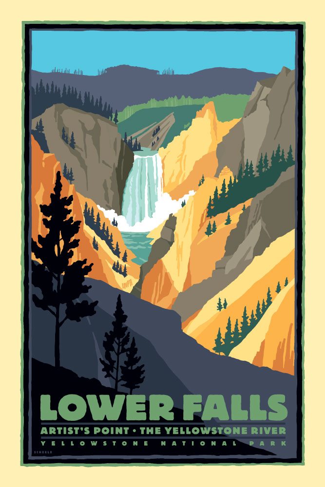 Yellowstone-Lower-Falls-Poster-Scheele