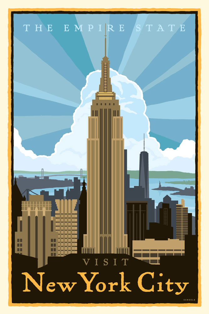 new york city poster scheele open sky ideas. Black Bedroom Furniture Sets. Home Design Ideas